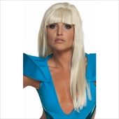 Lady Gaga Straight Adult Wig with Bangs