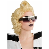 Lady Gaga Black Retro Glasses Adult