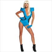 Lady GaGa Blue Swimsuit Adult Costume