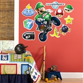 Mario Kart Wii Luigi Giant Wall Decal | 202877
