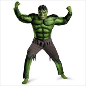 The Avengers Hulk Muscle Adult Costume