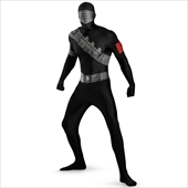 GI Joe Snake Eyes Bodysuit Adult Costume