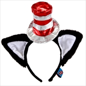 Cat In The Hat Deluxe Headband With Ears