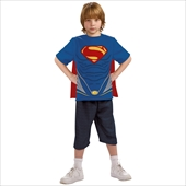 Superman-Man of Steel-Child Costume Top and Cape