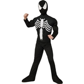 Ultimate Black Spider-Man Muscle Chest Kids Costume | 219365
