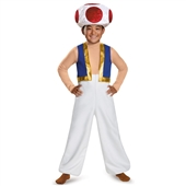 Super Mario Bros: Toad Deluxe Child Costume | 243777