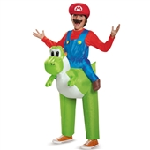 Super Mario Bros: Mario Riding Yoshi Inflatable Child Costume | 243784
