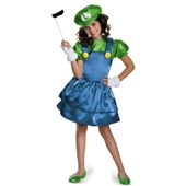 Super Mario Bros: Luigi w/Skirt Child Costume | 243788
