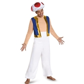 Super Mario: Toad Deluxe Adult Costume Plus 243793