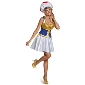 Super Mario Bros: Toad Female Adult Costume  243813