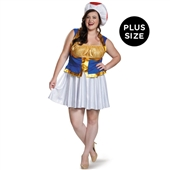 Super Mario Bros: Toad Female Adult Costume Plus | 243816