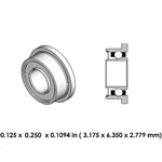 Dental Highspeed Bearing - DA01B2L - For Midwest