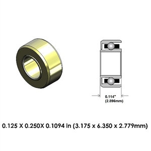 Dental Highspeed Ceramic Bearing - DA55Z2G-816