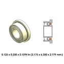 Dental Highspeed Ceramic Bearing - DR01B1L-801 - For Midwest, NSK, Kinetic Instruments, Castellini