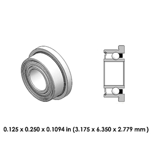Dental Highspeed Bearing - DR01B2L For Midwest, NSK, Kinetic