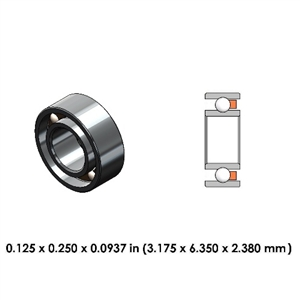 Dental Highspeed Bearing - DR02A1L - For Midwest and NSK
