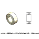 Dental Highspeed Ceramic Bearing - DR02B5G-814