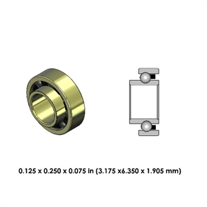 Highspeed Contra Angle Bearing - DR02J2LR-801 - For KaVo and Other Brands