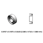 Dental Contra Angle Bearing - DR04A2L - For Star, Midwest & NSK