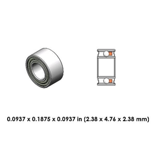 Dental Highspeed Contra Angle Bearing - DR05E3L - For Bien Air and MMI
