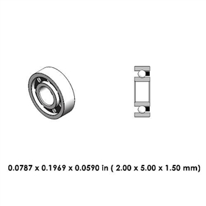 Dental Contra Angle Steel Bearing - DR06A2L- For KaVo