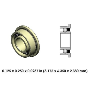 Dental Highspeed Ceramic Bearing - DR13A2L-801 - For NSK and Kinetic