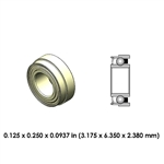 Dental Highspeed Ceramic Bearing - DR21B2G-801 - For Dabi Atlante