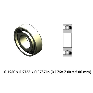 Dental Contra Angle Ceramic Bearing - DR33A2L-801 - For Sirona and Others