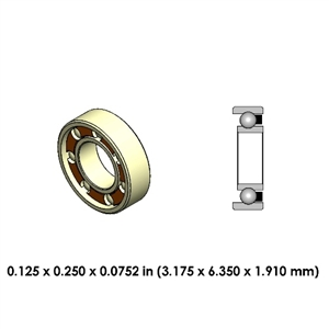 Dental Highspeed Ceramic Bearing - DR74A2L-801 - For Lares