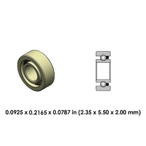 Contra Angle Ceramic Bearing - DR83A2L-801 - For W&H