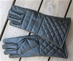 Gloves - Padded Leather Fencing Gloves Black
