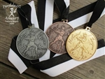 Fiore Tournament Medals Set with Back Inscription - 1 Gold, 1 Silver, 1 Bronze