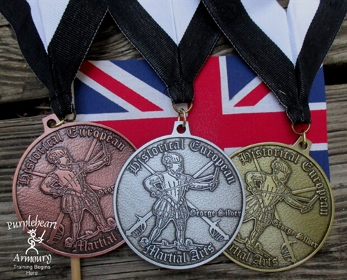 George Silver Medals Set - 1 Gold, 1 Silver, 1 Bronze