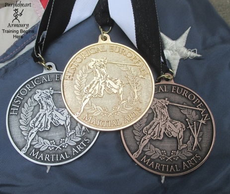 Meyer Tournament Medals Set with Back Inscription - 1 Gold, 1 Silver, 1 Bronze