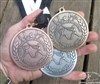 Talhoffer Tournament Medals Set with Back Inscription - 1 Gold, 1 Silver, 1 Bronze