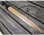 Wooden Engraved Rudis Sword
