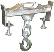 Double Fork 4000Lbs. Capacity Hoisting Hook Attachment