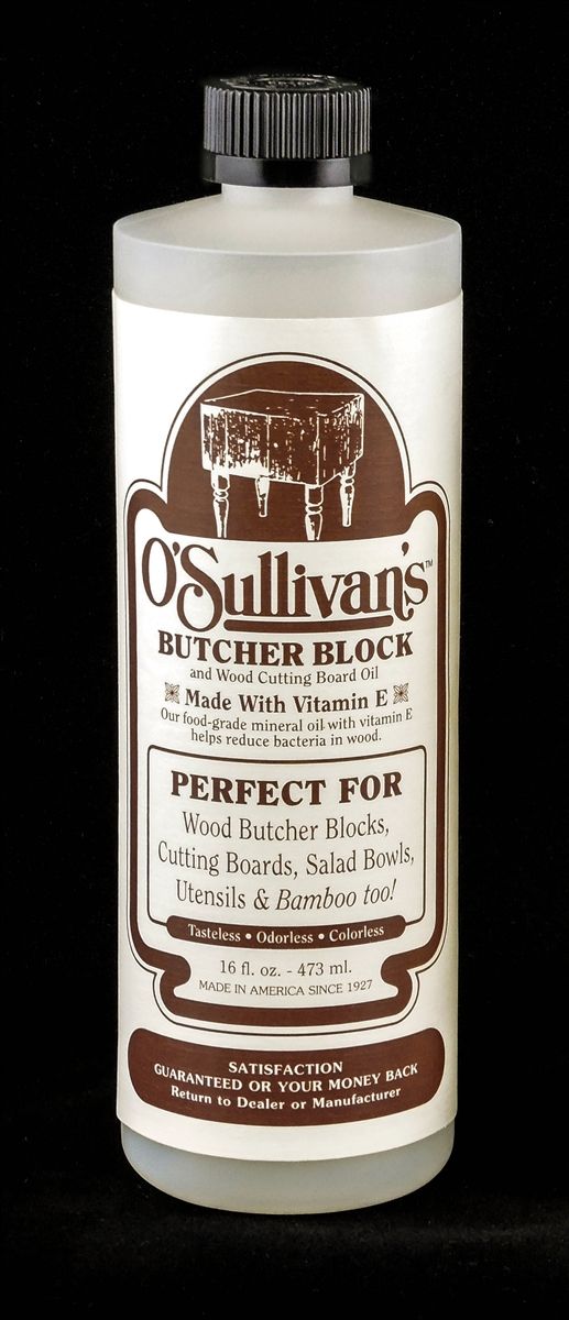 Osullivans Butcher Block And Wood Cutting Board Oil 16 Oz