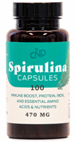Pure Blue Green Spirulina Powder Capsules - 470mg