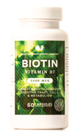 Biotin 5000 MCG Vitamin B7 and Coenzyme R