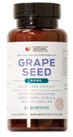 Grape Seed Extract - 60mg  Supports Circulation & Swelling