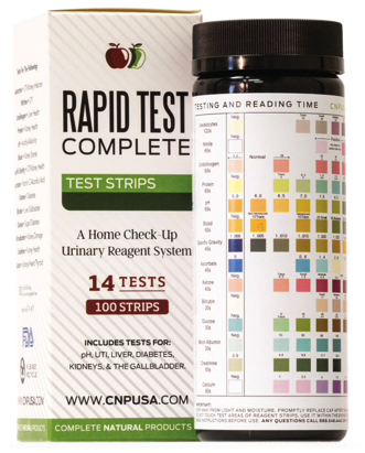 Rapid Test Complete - Urinalysis Test Strips 100ct UTI and pH