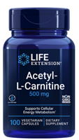 Acetyl-L-Carnitine 500 mg, 100 vegetarian capsules