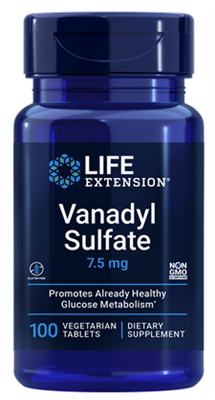 Vanadyl Sulfate (7.5 mg, 100 vegetarian tablets)