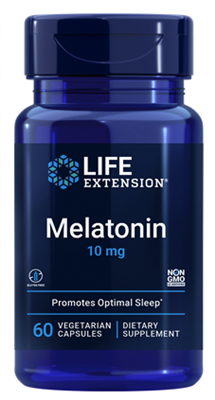 Melatonin (10 mg, 60 vegetarian capsules)