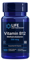 Vitamin B12 Methylcobalamin (500 mcg, 100 vegetarian lozenges)