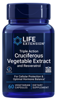 Triple Action Cruciferous Vegetable Extract and Resveratrol (60 vegetarian capsules)