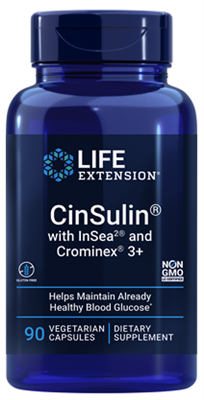 CinSulin® with InSea2® and Crominex® 3+ (90 vegetarian capsules)