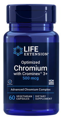 Optimized Chromium with Crominex® 3+ (500 mcg, 60 vegetarian capsules)