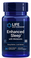 Enhanced Sleep with Melatonin (30 vegetarian capsules)
